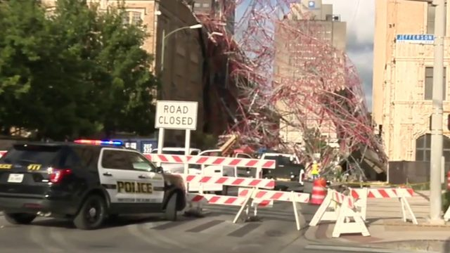 Man injured in scaffolding collapse in downtown SA speaks out