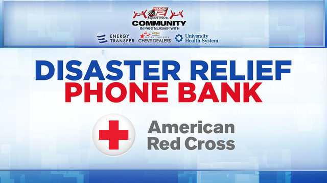 KSAT Community hosts disaster relief phone bank Friday for Imelda victims