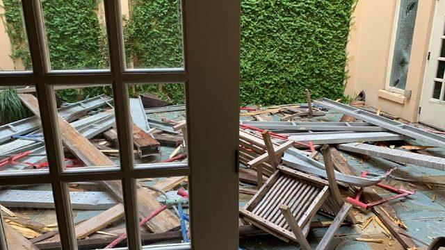 St. Mark's Episcopal Church hopes to hold Sunday services despite damage…