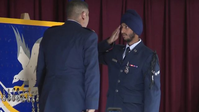 Sikh man makes US Air Force history in San Antonio