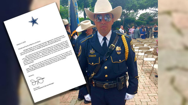 Dallas Cowboys pen letter to family of BCSO deputy who died