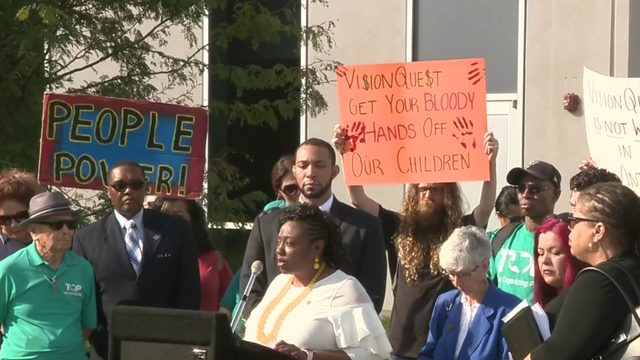 Community leaders, church members clash over proposed migrant shelter on…