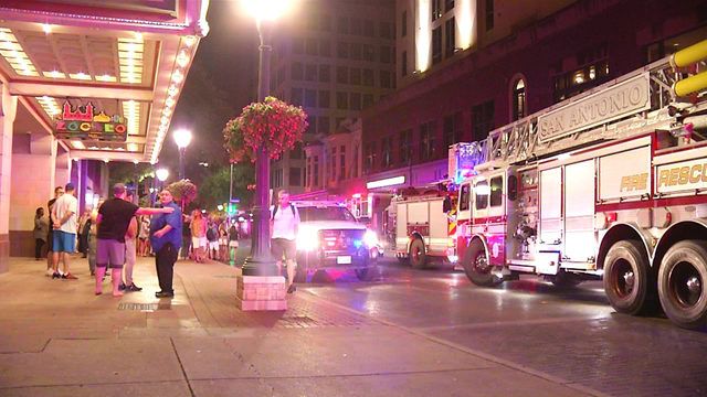 Fire in utility closet forces evacuation of hotel