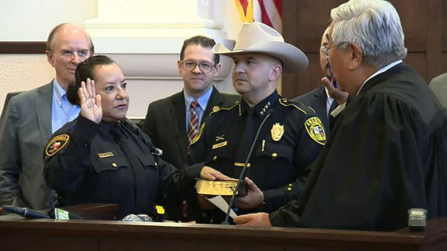WATCH LIVE: First day on job for new Precinct 2 constable