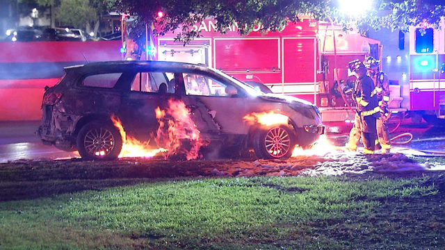 SAPD: Car catches fire after driving over mattress