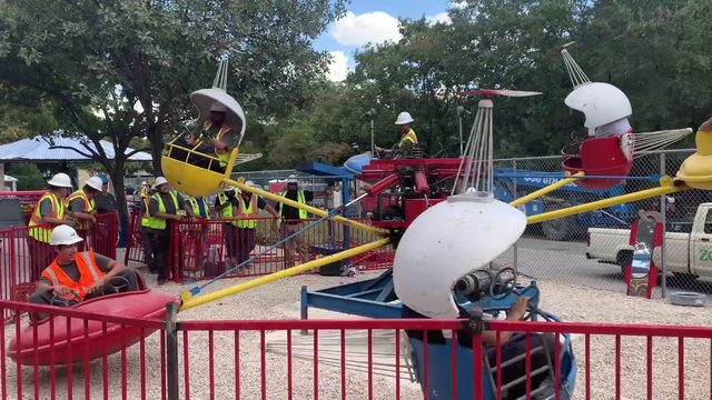 Crews test rides at Kiddie Park ahead of opening at San Antonio Zoo