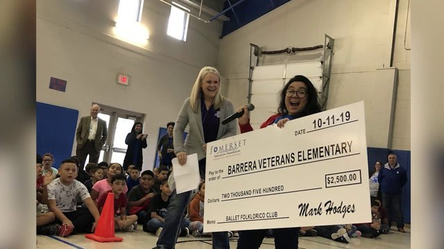 Somerset ISD teachers surprised with grant money by district's Education…