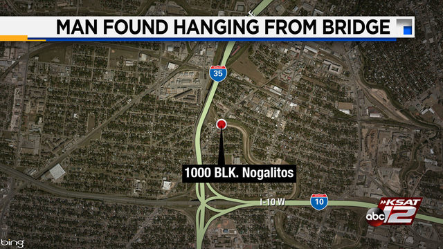 Man found with belt around neck found hanging under West Side bridge