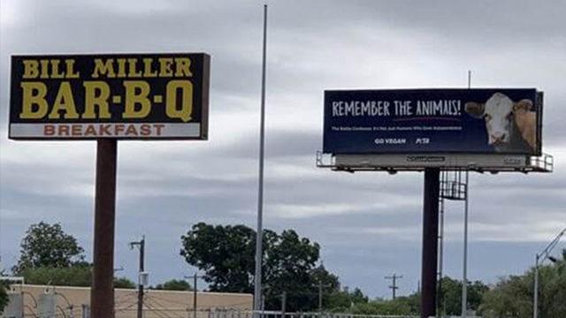 PETA buys billboard next to Bill Miller Bar-B-Q in downtown San Antonio