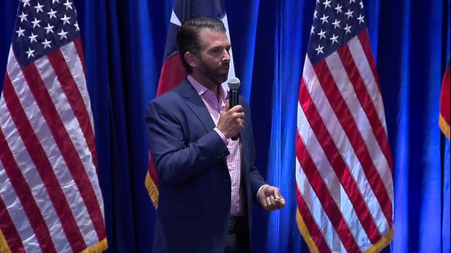 Donald Trump Jr. stops in SA for 'Keep America Great' rally preview