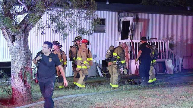 Family of 8 displaced after trailer home fire