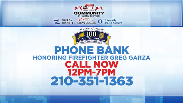 KSAT Community hosts phone bank honoring fallen firefighter Greg Garza