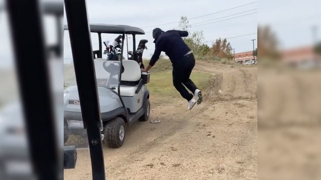 Funny Video: Tony Romo pranked with fake snake on golf course