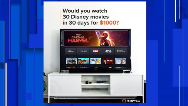 Get paid to watch Disney movies for a month