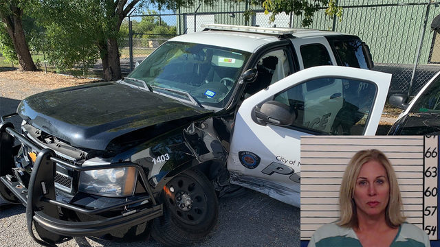 Woman charged after totaling 2 New Braunfels police SUVs in alleged DWI crash
