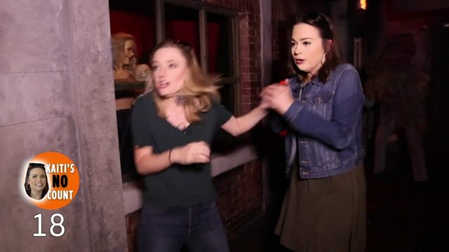 """Kaiti Blake and Sarah Spivey brave the """"Nightmare at the Wax Museum"""""""