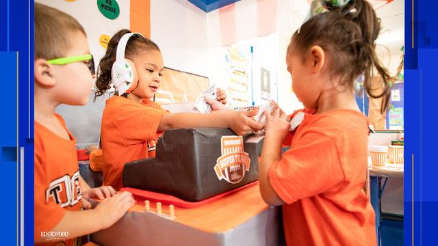 San Antonio teacher creates replica Whataburger as play area for classroom